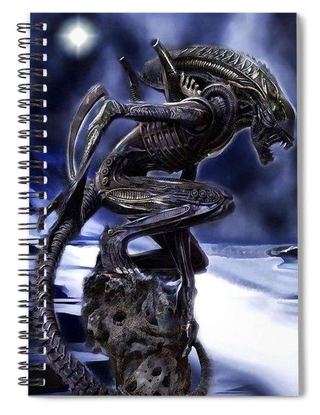 The Xenomorph Guardian Spiral Notebook by Mario Carini