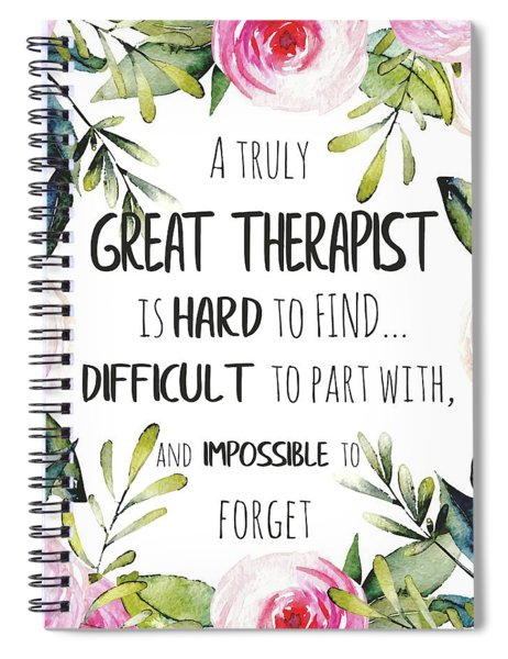 Therapist Thank You Note Spiral Notebook