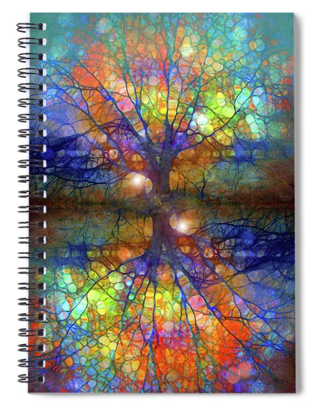 There Is Light Even In These Dark Roots Spiral Notebook