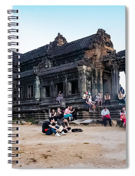 They Come To See Angkor Wat, Cambodia Spiral Notebook