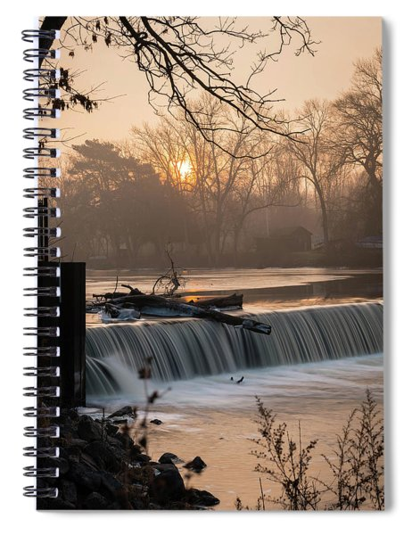 Thiensville Dam In December Spiral Notebook