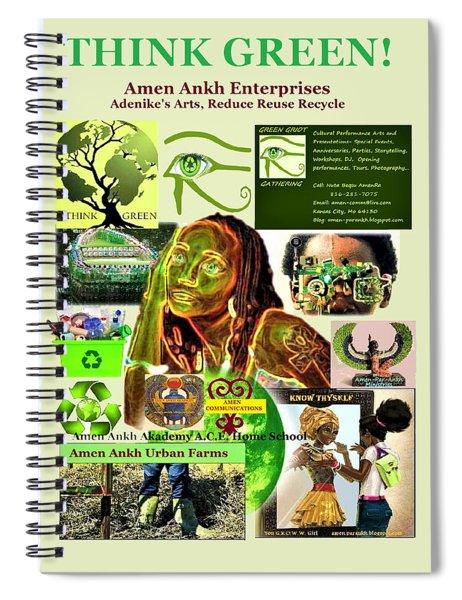 Think Green Spiral Notebook