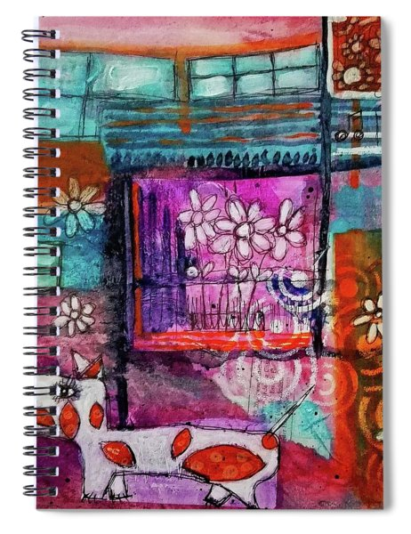 Thinking Happy Thoughts Spiral Notebook