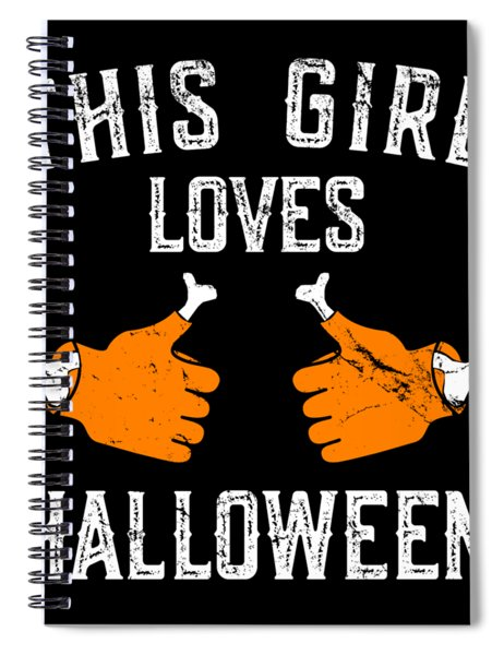 This Girl Loves Halloween Spiral Notebook