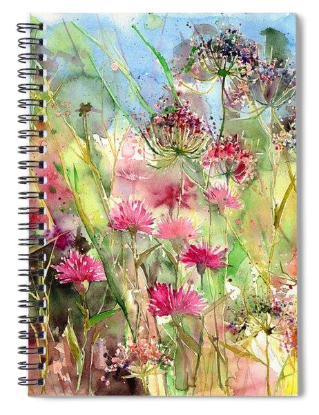 Thistles Impression II Spiral Notebook