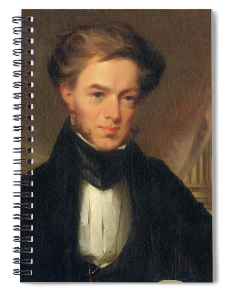 Portrait Of Thomas Ustick Walter, 1835 Spiral Notebook