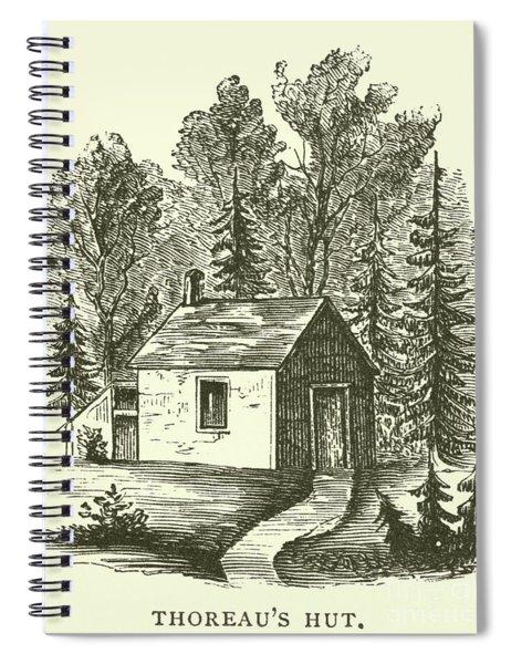 Thoreau's Hut, Walden Woods, Concord, Massachusetts Spiral Notebook