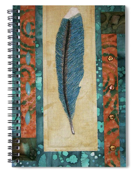Threaded Feather Spiral Notebook