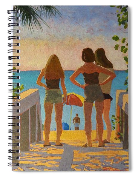 Three Beach Girls Spiral Notebook