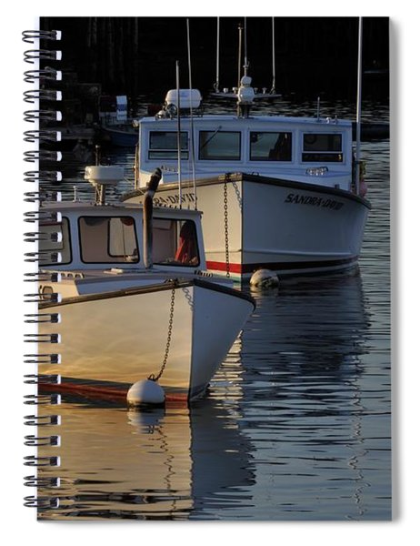 Three Boats In Maine Spiral Notebook