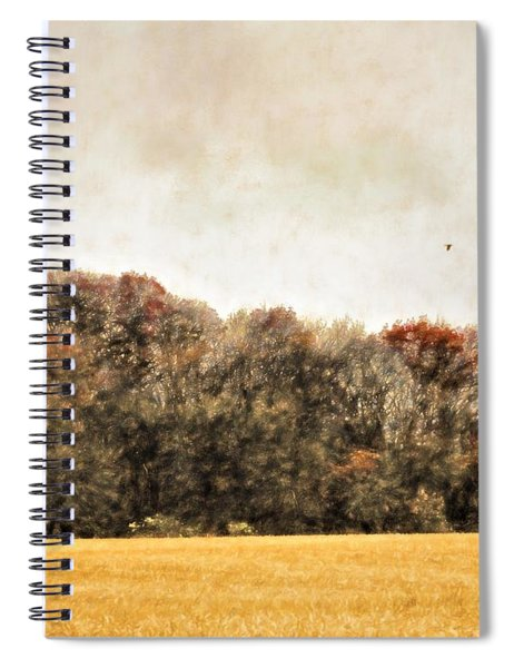 Three Crows And Golden Field Spiral Notebook