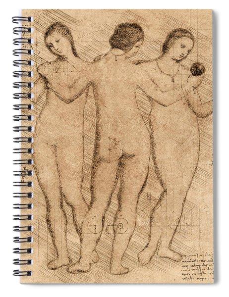 Three Graces - II Spiral Notebook