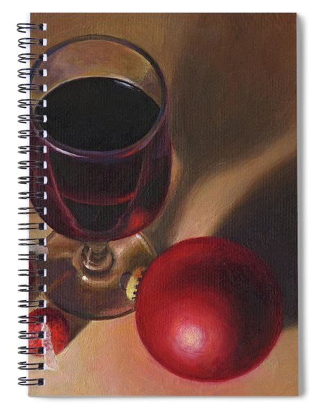 Three Kisses And A Glass Of Port Spiral Notebook