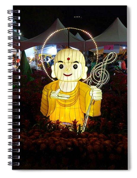 Three Lanterns In The Shape Of Buddhist Monks Spiral Notebook