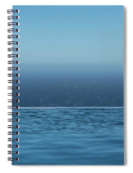Three Layers Of Blue Spiral Notebook