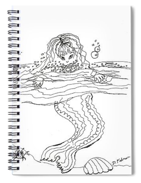 Three Mermaids All In A Row Spiral Notebook