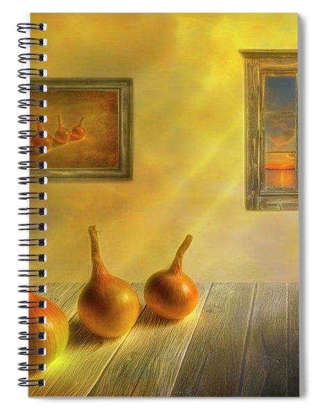 Three Onions Spiral Notebook