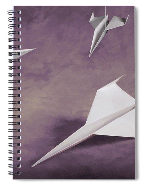 Three Paper Airplanes Spiral Notebook