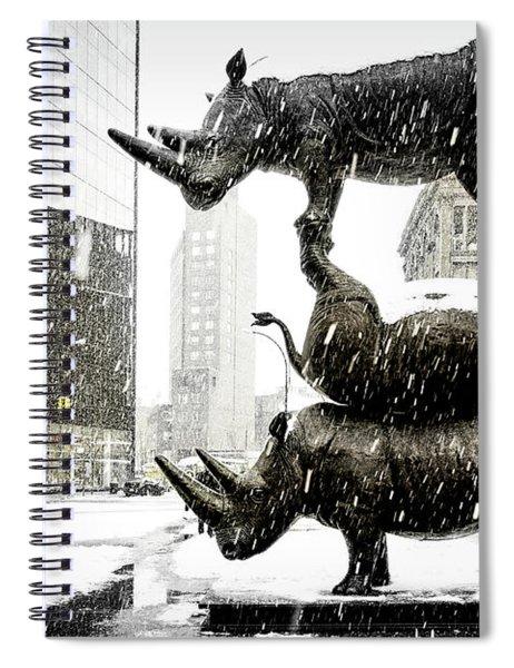 Three Rhinoceri In New York  Spiral Notebook