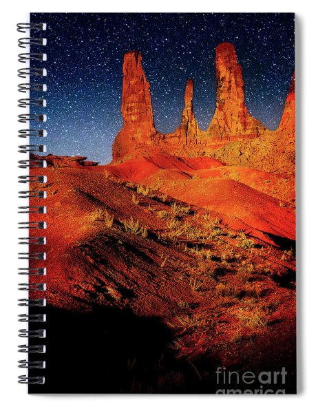 Three Sisters Spiral Notebook by Scott Kemper