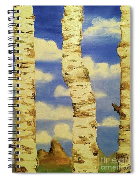 Thru The Aspens View Spiral Notebook