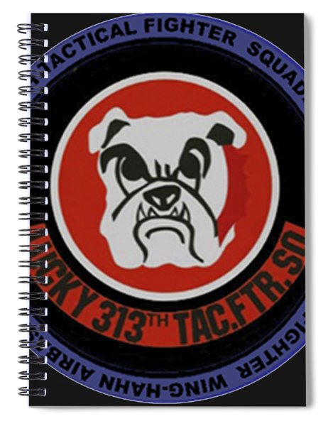 The 313th Tactical Fighter Squadron Spiral Notebook