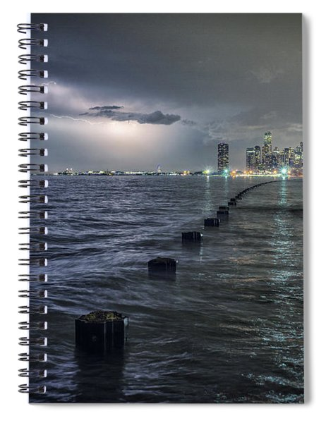 Thunder And Lightning In The Dark City Spiral Notebook