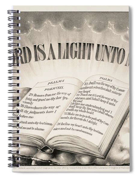 Thy Word Is A Light Unto My Path, 1872 Spiral Notebook