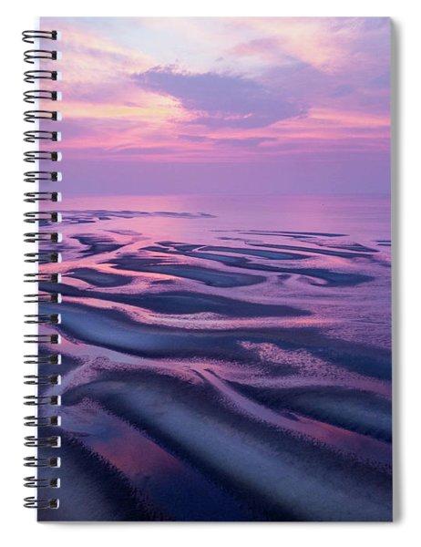 Tidal Flats Sunset Spiral Notebook