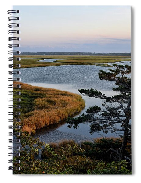 Tidal Pond Afterglow Spiral Notebook