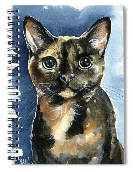 Tiffany Tortoiseshell Cat Painting Spiral Notebook