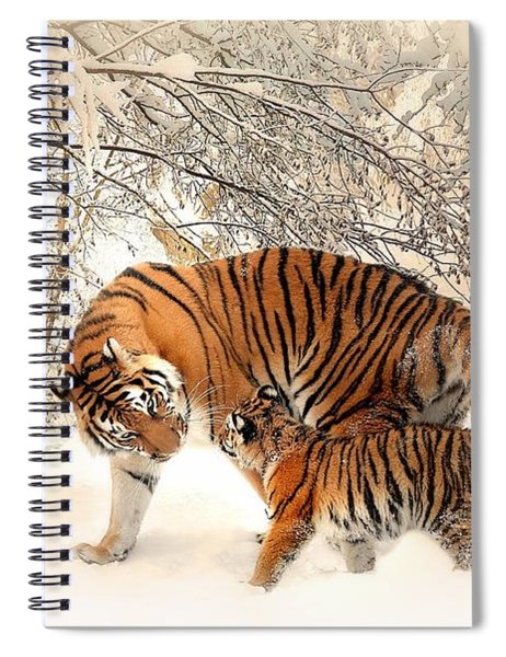Tiger Family Spiral Notebook