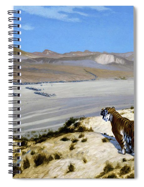 Tiger On The Watch - Digital Remastered Edition Spiral Notebook