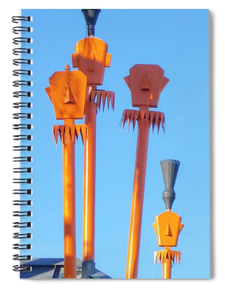 Tiki Palm Springs Spiral Notebook