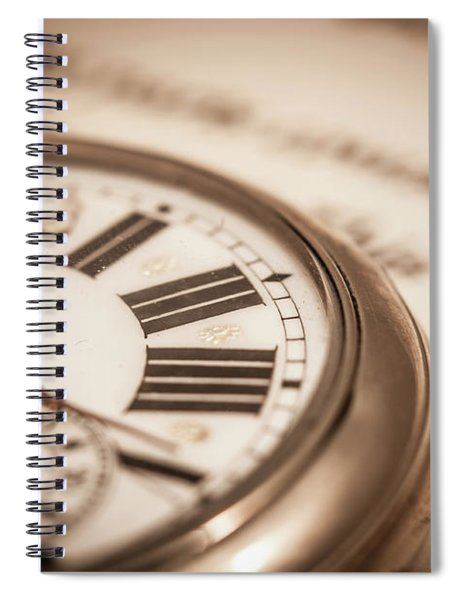 Time And Words Spiral Notebook