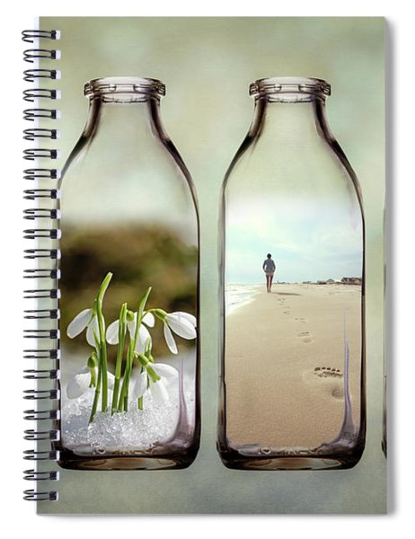 Time In A Bottle - The Four Seasons Spiral Notebook