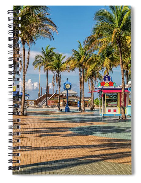 Times Square In Fort Myers Beach Florida Spiral Notebook