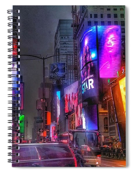 Times Square - The Light Fantastic 2016 Spiral Notebook