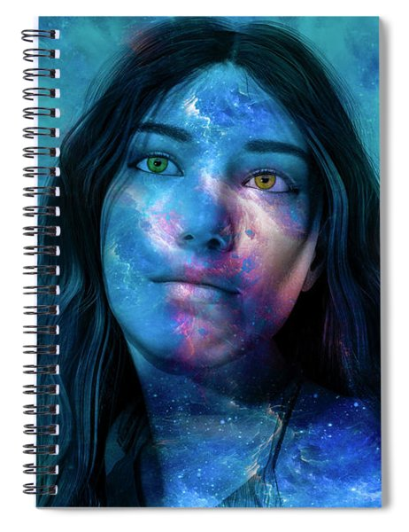 Timing Of Space Spiral Notebook