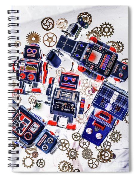 Tin Toy Factory Spiral Notebook
