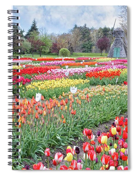 Tip Toe Through The Tulips  Spiral Notebook