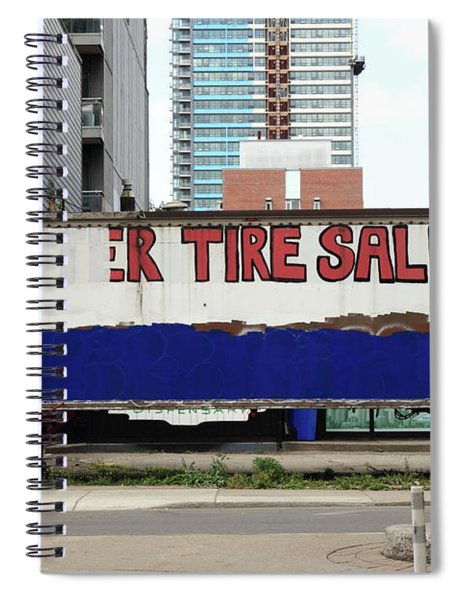 Tire Sale Spiral Notebook
