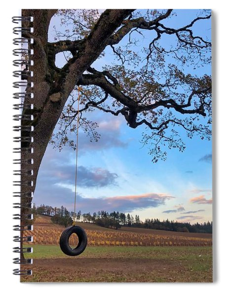 Tire Swing Tree Spiral Notebook