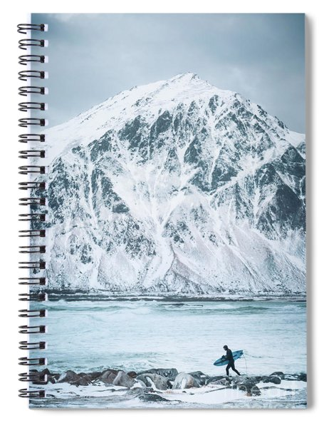 To Ride The Arctic Waves Spiral Notebook