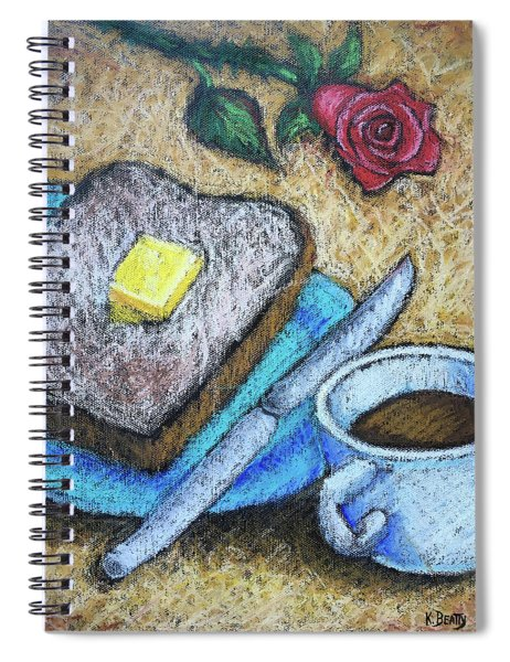 Toast And Roses Spiral Notebook
