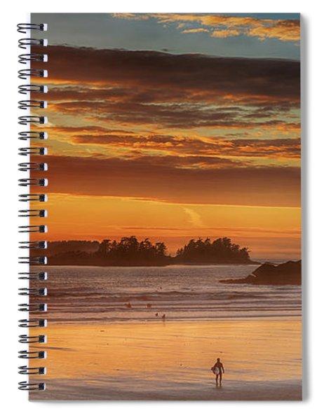 Tofino Beach Sunset 1 Spiral Notebook