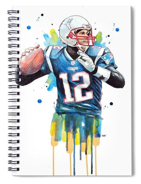 Tom Brady, Patriots, Nfl Spiral Notebook