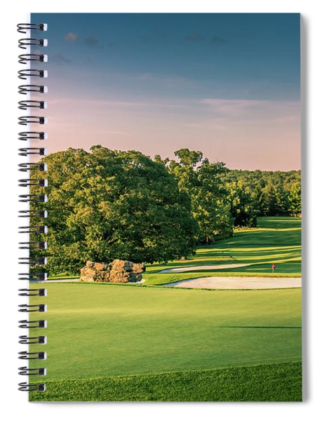 Top Of The Rock Golf Course Spiral Notebook by Allin Sorenson