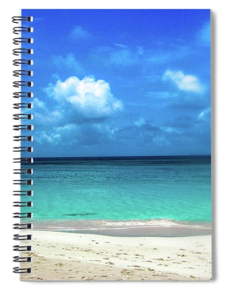 Topical Beach View Anguilla Spiral Notebook