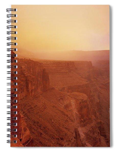 Toroweap Overlook Storm Sunrise Spiral Notebook